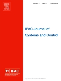 cover of IFAC Journal of Systems and Control
