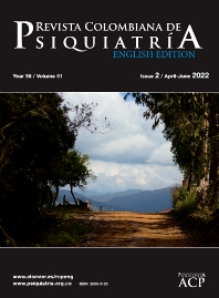 Cover image for Revista Colombiana de Psiquiatría (English Edition)
