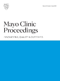 Cover image for Mayo Clinic Proceedings: Innovations, Quality & Outcomes