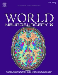 Cover image for World Neurosurgery: X