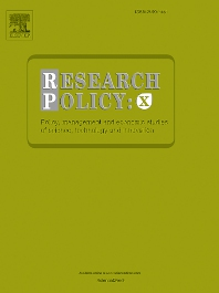 Cover image for Research Policy: X