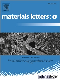 Cover image for Materials Letters: X