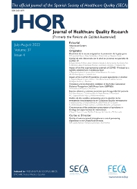 Cover image for Journal of Healthcare Quality Research