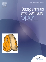 Cover image for Osteoarthritis and Cartilage Open