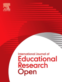 Cover image for International Journal of Educational Research Open