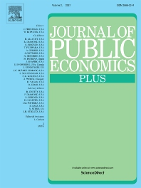 Cover image for Journal of Public Economics Plus