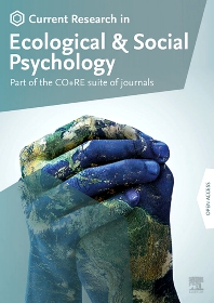 Cover image for Current Research in Ecological and Social Psychology