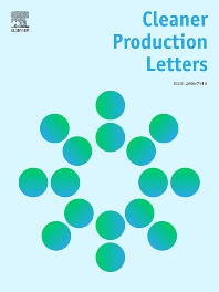 Cover image for Cleaner Production Letters