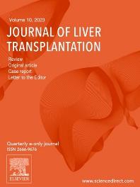 Cover image for Journal of Liver Transplantation