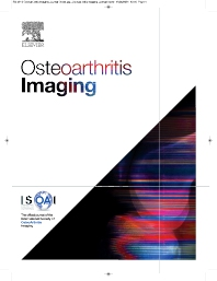 Osteoarthritis Imaging