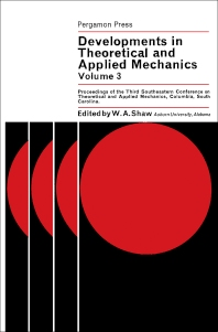 Developments in Theoretical and Applied Mechanics - 1st Edition - ISBN: 9780080031323, 9781483151342
