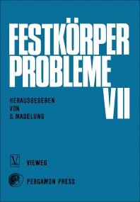 Festkörper Probleme - 1st Edition - ISBN: 9780080036793, 9781483155975