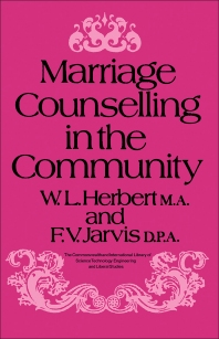 Marriage Counselling in the Community - 1st Edition - ISBN: 9780080069104, 9781483140247