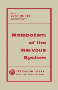 Metabolism of the Nervous System - 1st Edition - ISBN: 9780080090627, 9781483184357