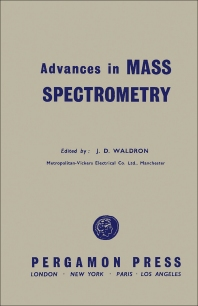 Advances in Mass Spectrometry - 1st Edition - ISBN: 9780080092102, 9781483184418