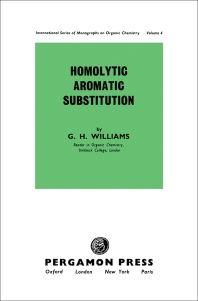 Homolytic Aromatic Substitution - 1st Edition - ISBN: 9780080092461, 9781483151137