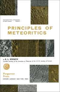 Cover image for Principles of Meteoritics
