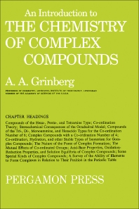 Cover image for An Introduction to the Chemistry of Complex Compounds