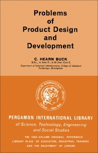 Cover image for Problems of Product Design and Development