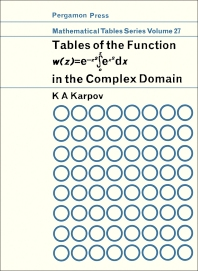 Tables of the Function w (z)- e-z2 ? ex2 dx - 1st Edition - ISBN: 9780080100944, 9781483214573