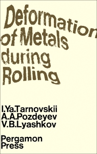 Cover image for Deformation of Metals During Rolling