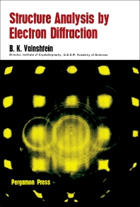 Structure Analysis by Electron Diffraction - 1st Edition - ISBN: 9780080102412, 9781483164755
