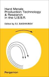 Cover image for Hard Metals Production Technology and Research in the U.S.S.R.