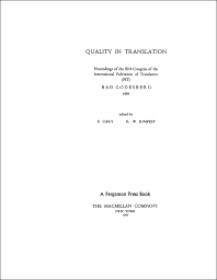 Cover image for Quality in Translation