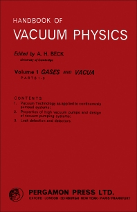 Gases and Vacua - 1st Edition - ISBN: 9780080104256, 9781483138022