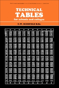 Cover image for Technical Tables for Schools and Colleges