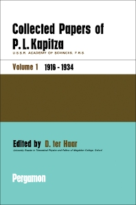 Collected Papers of P.L. Kapitza - 1st Edition - ISBN: 9780080107448, 9781483152677