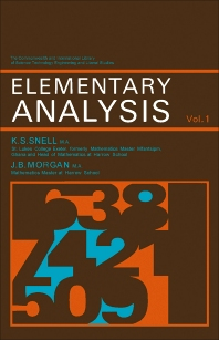 Cover image for Elementary Analysis