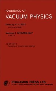 Handbook of Vacuum Physics - 1st Edition - ISBN: 9780080110509, 9781483141923