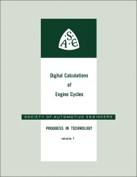 Cover image for Digital Calculations of Engine Cycles