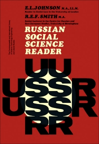 Russian Social Science Reader - 1st Edition - ISBN: 9780080113173, 9781483136615
