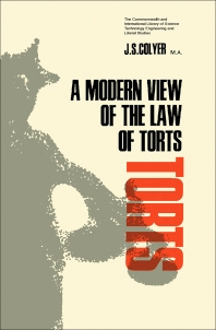 A Modern View of the Law of Torts - 1st Edition - ISBN: 9780080116402, 9781483156385