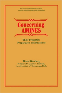 Concerning Amines - 1st Edition - ISBN: 9780080119137, 9781483185903