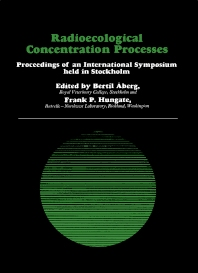 Radioecological Concentration Processes - 1st Edition - ISBN: 9780080121222, 9781483152356