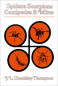 Spiders, Scorpions, Centipedes and Mites - 1st Edition - ISBN: 9780080123226, 9781483139678