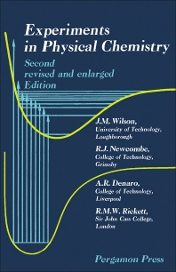 Experiments in Physical Chemistry - 2nd Edition - ISBN: 9780080125411, 9781483186191