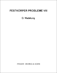 Festkörper Probleme VIII - 1st Edition - ISBN: 9780080131092, 9781483140346