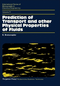 Prediction of Transport and Other Physical Properties of Fluids - 1st Edition - ISBN: 9780080134123, 9781483160719