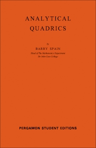 Analytical Quadrics - 1st Edition - ISBN: 9780080136264, 9781483138299