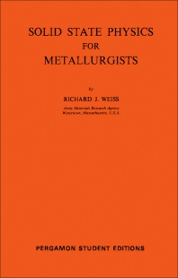 Cover image for Solid State Physics for Metallurgists