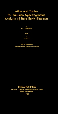 Tables for Emission Spectrographic Analysis of Rare Earth Elements - 1st Edition - ISBN: 9780080136882, 9781483155203