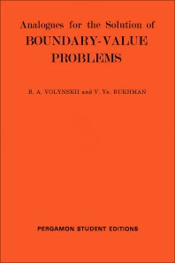 Analogues for the Solution of Boundary-Value Problems - 1st Edition - ISBN: 9780080138046, 9781483181370