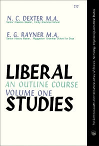 Liberal Studies - 1st Edition - ISBN: 9780080139951, 9781483279206