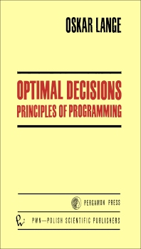 Optimal Decisions - 1st Edition - ISBN: 9780080160535, 9781483148960