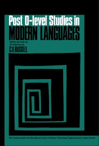 Cover image for Post-O-Level Studies in Modern Languages