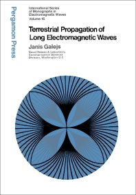 Terrestrial Propagation of Long Electromagnetic Waves - 1st Edition - ISBN: 9780080167107, 9781483159560